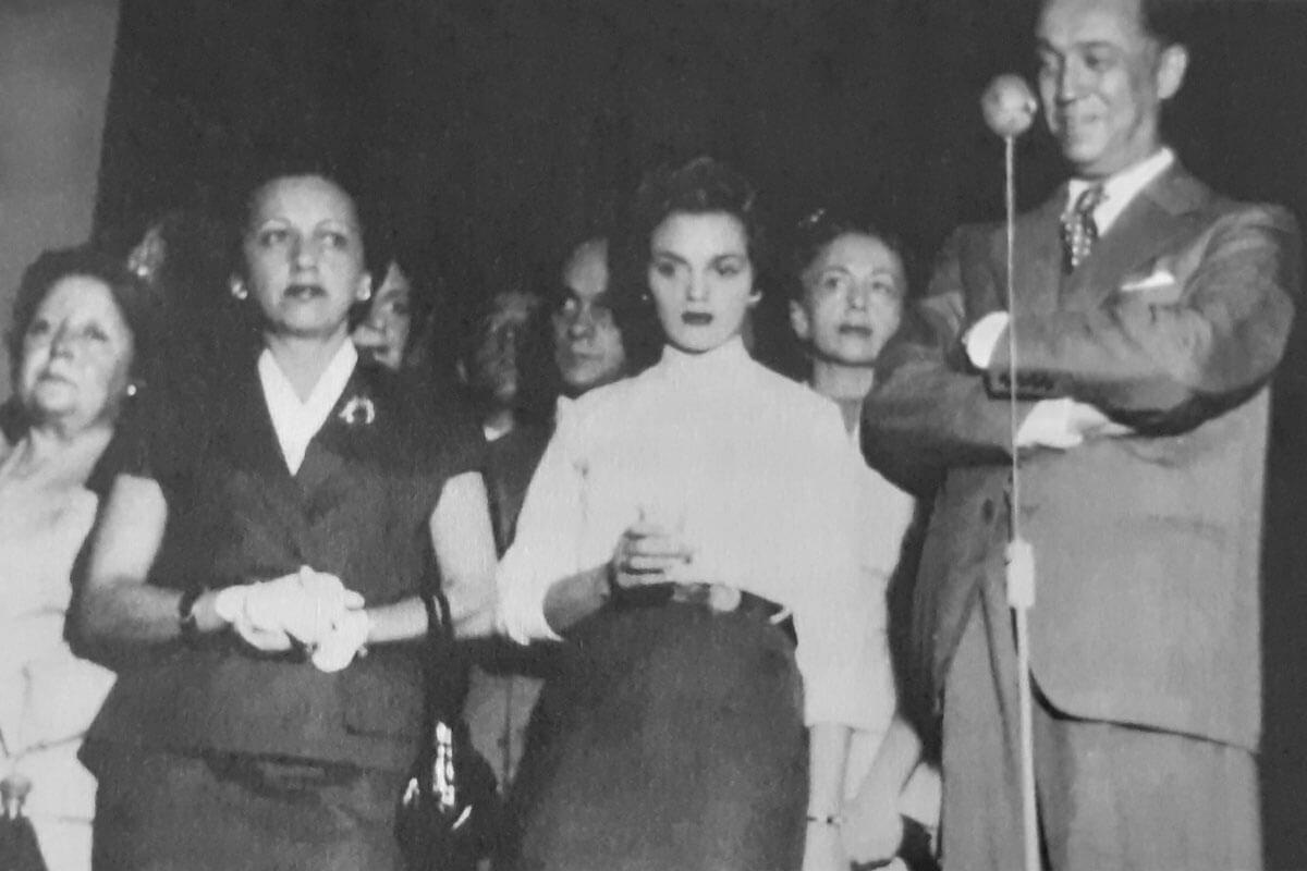 Sarah Kubitschek, Maria Lúcia Pedroso e Juscelino Kubitschek