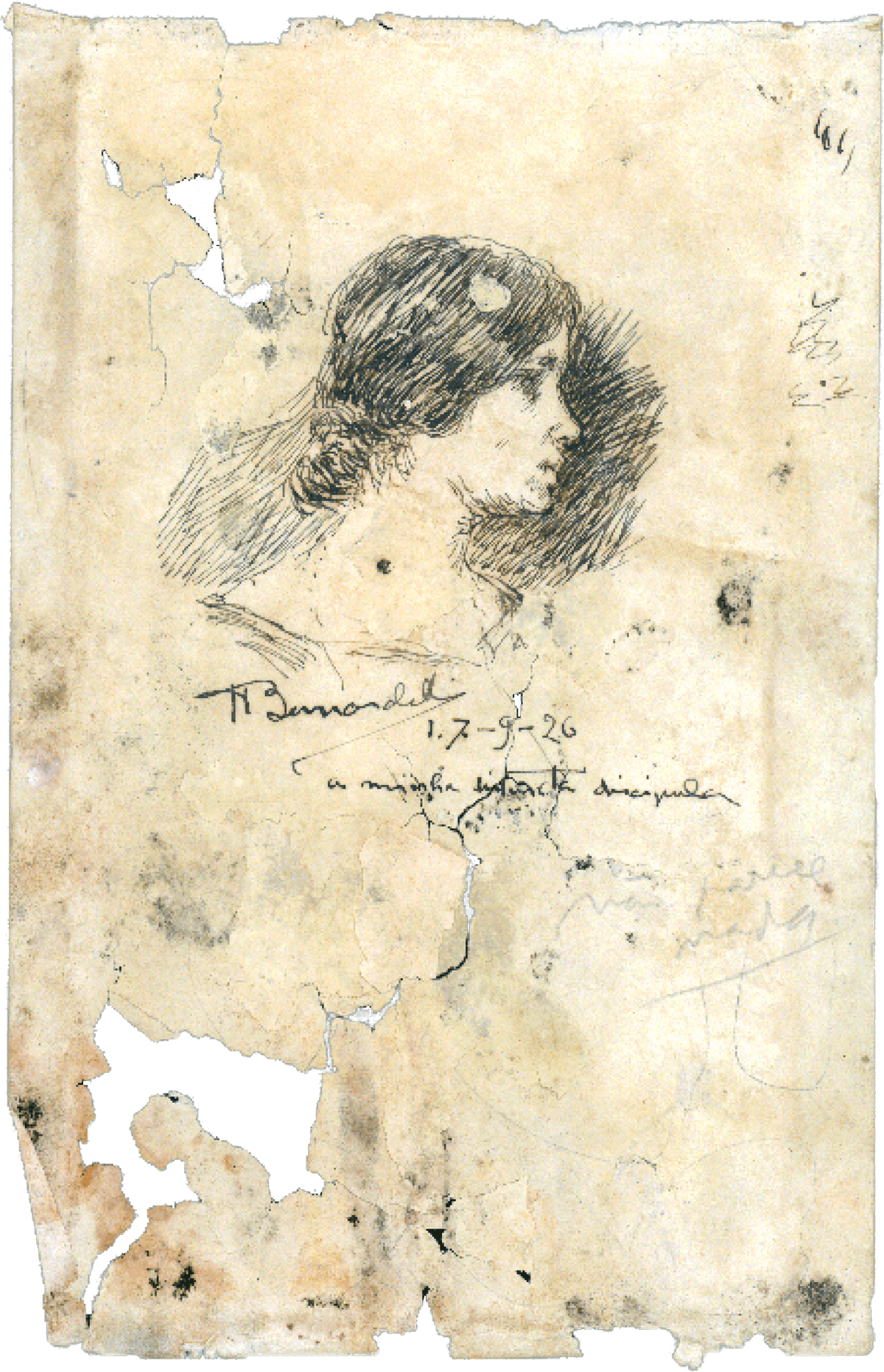 Leleta desenhada pelo pintor Henrique Bernardelli