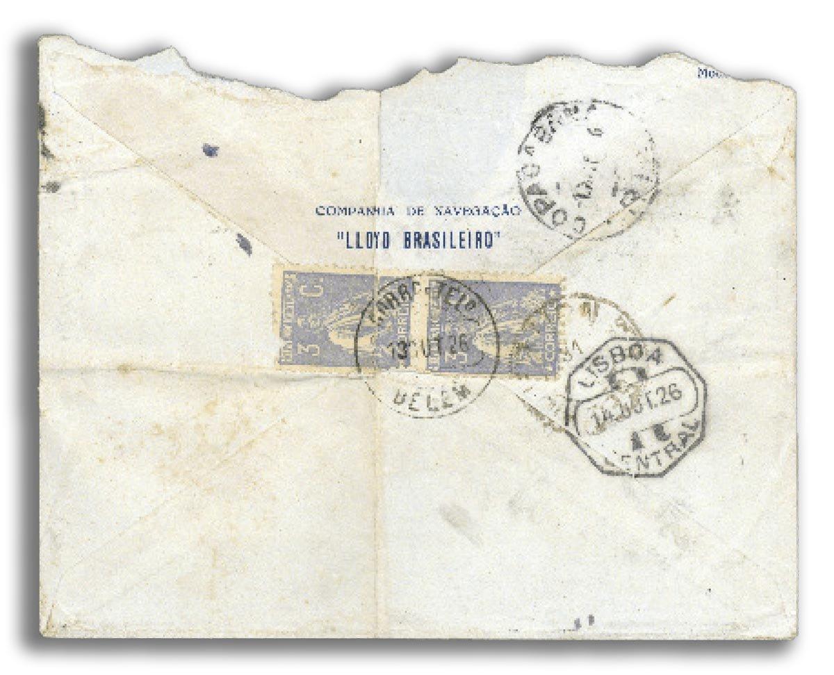 Durante a viagem à Europa, Lucio mandou uma carta à Leleta