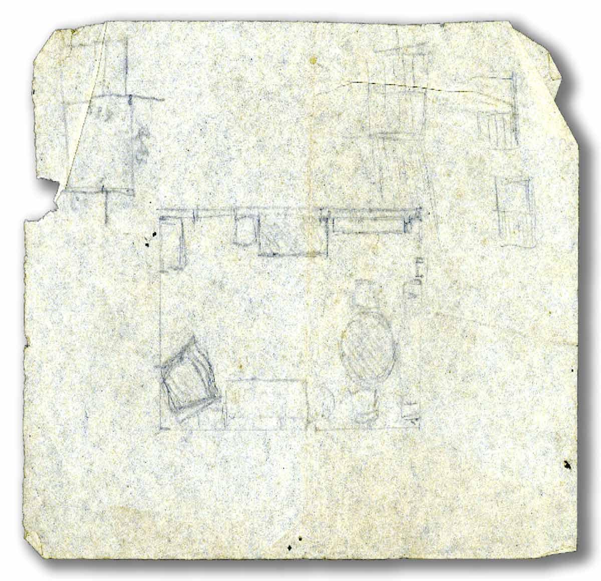 Nos croquis da cobertura no Leblon, Lucio Costa desenhou até a disposição dos móveis da sala