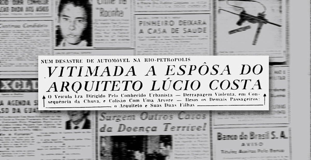 O Última Hora publicou a notícia da morte de Leleta na primeira página do jornal