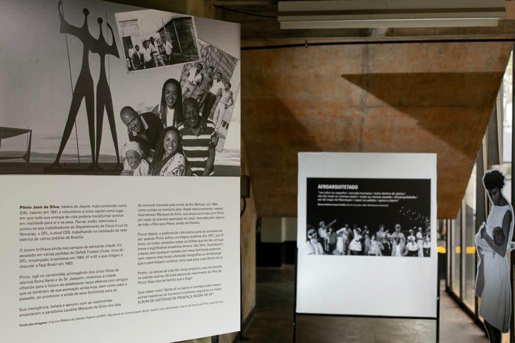 A exposição com fotos mostra como Brasília foi construída por negros para brancos