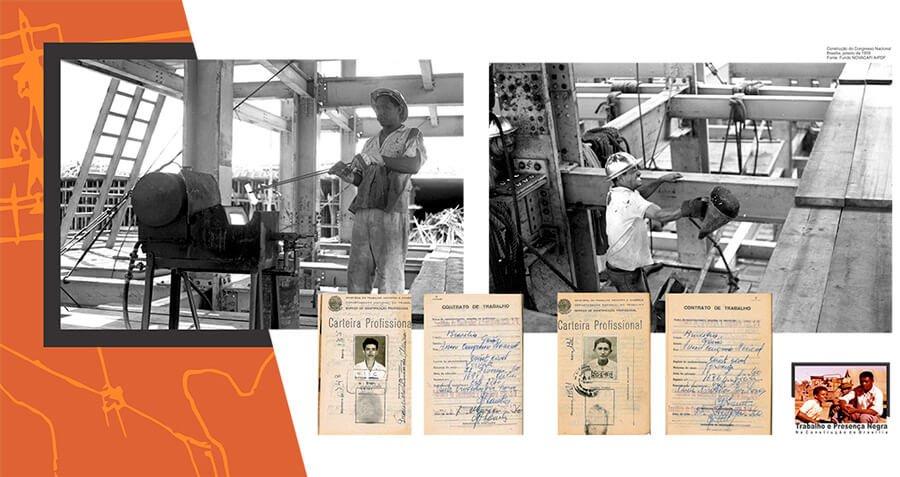 A exposição apresentou 20 painéis que compõem um cenário imagético referenciado pela documentação histórica do ArPDF