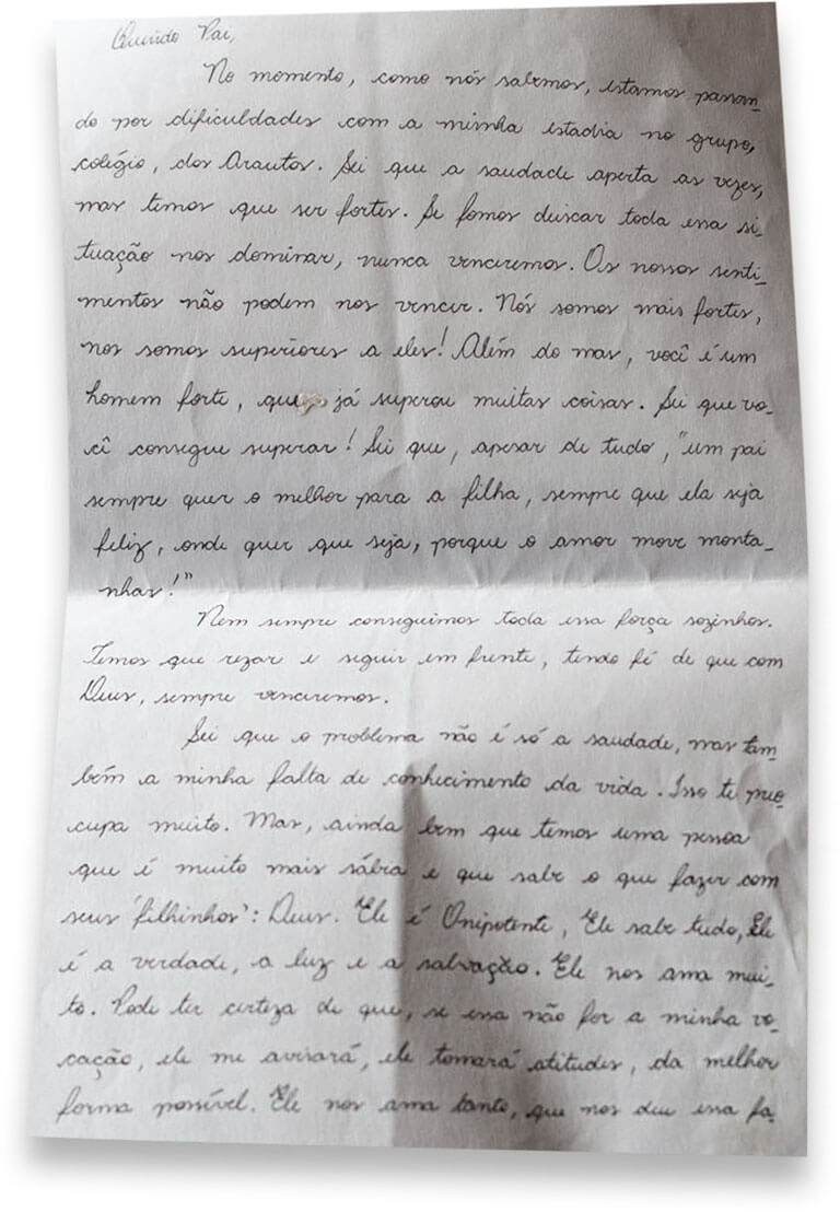 Em 2010, a filha de N. P. escreveu uma carta em que falava sobre a vocação de ser freira
