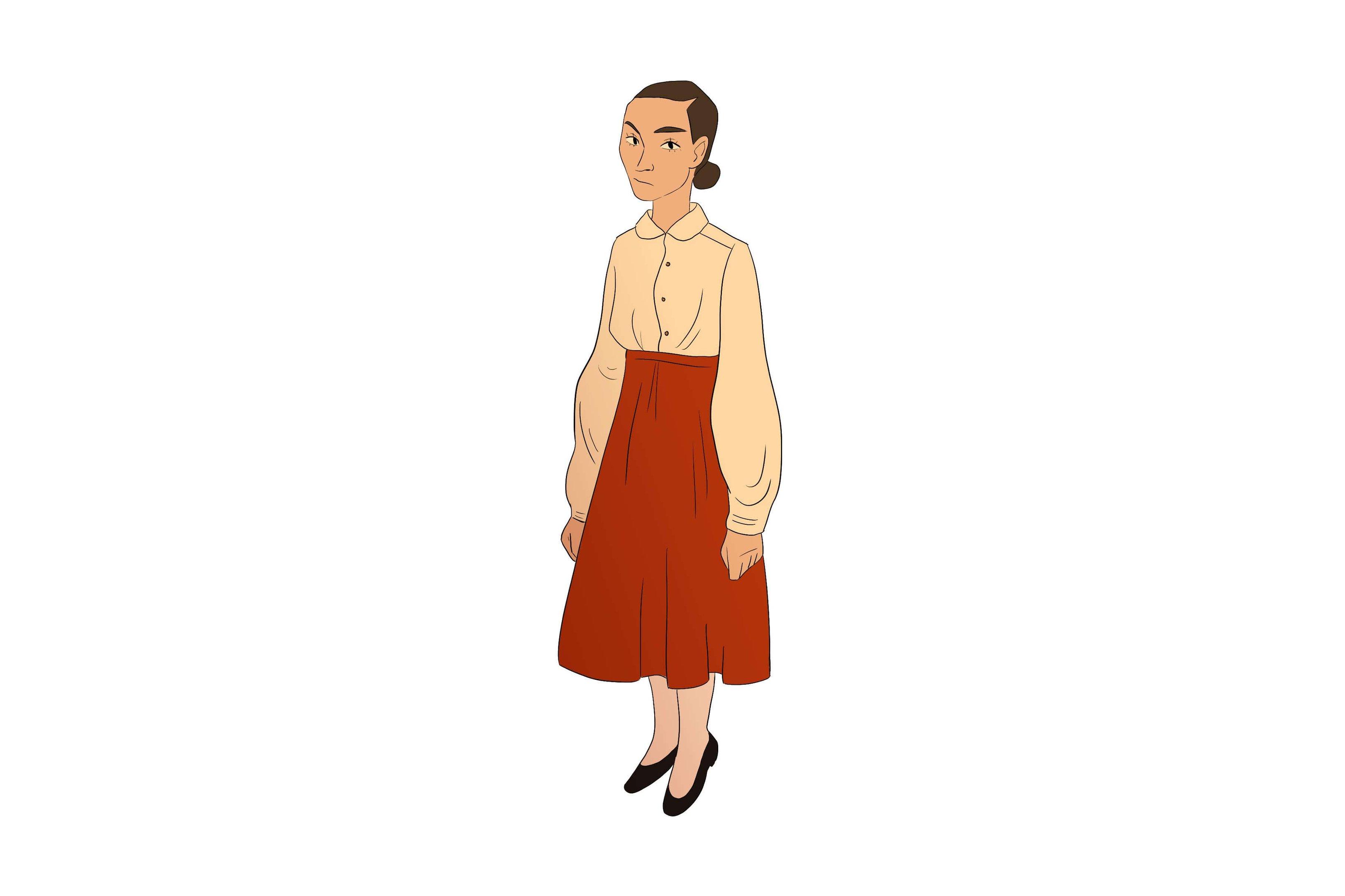 As noviças usam camisa branca e saia marrom. O dourado das roupas exprime a santidade, à qual todos batizados são chamados, e a beleza