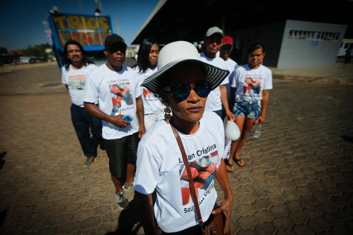 A família de Lilian Cristina fez uma caminhada no Paranoá em defesa das mulheres