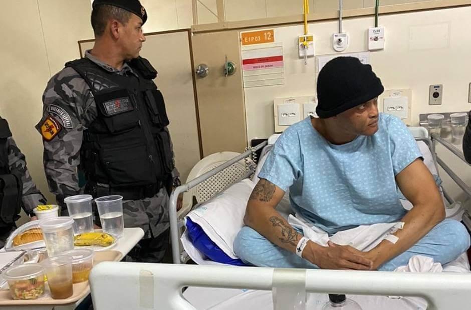 Dias após o crime, o femininicida confesso Alan foi encontrado internado no Hospital de Base
