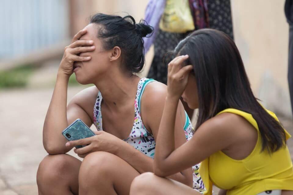 Vizinhos choram e lamentaram o feminicídio em Santa Maria