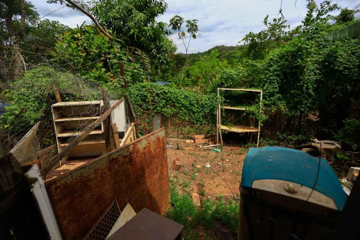 As casas no Catingueiro, perto da Fercal, são distantes umas da outras