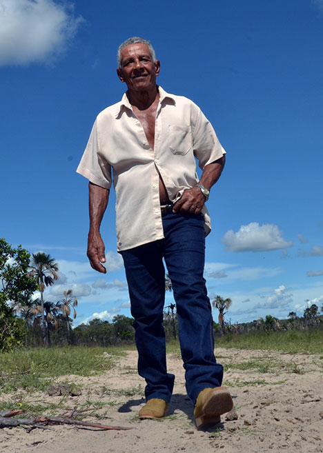 João de Tarto: quatro gerações na mesma área do Cerrado. Foto: Gilberto Alves/Especial para o Metrópoles