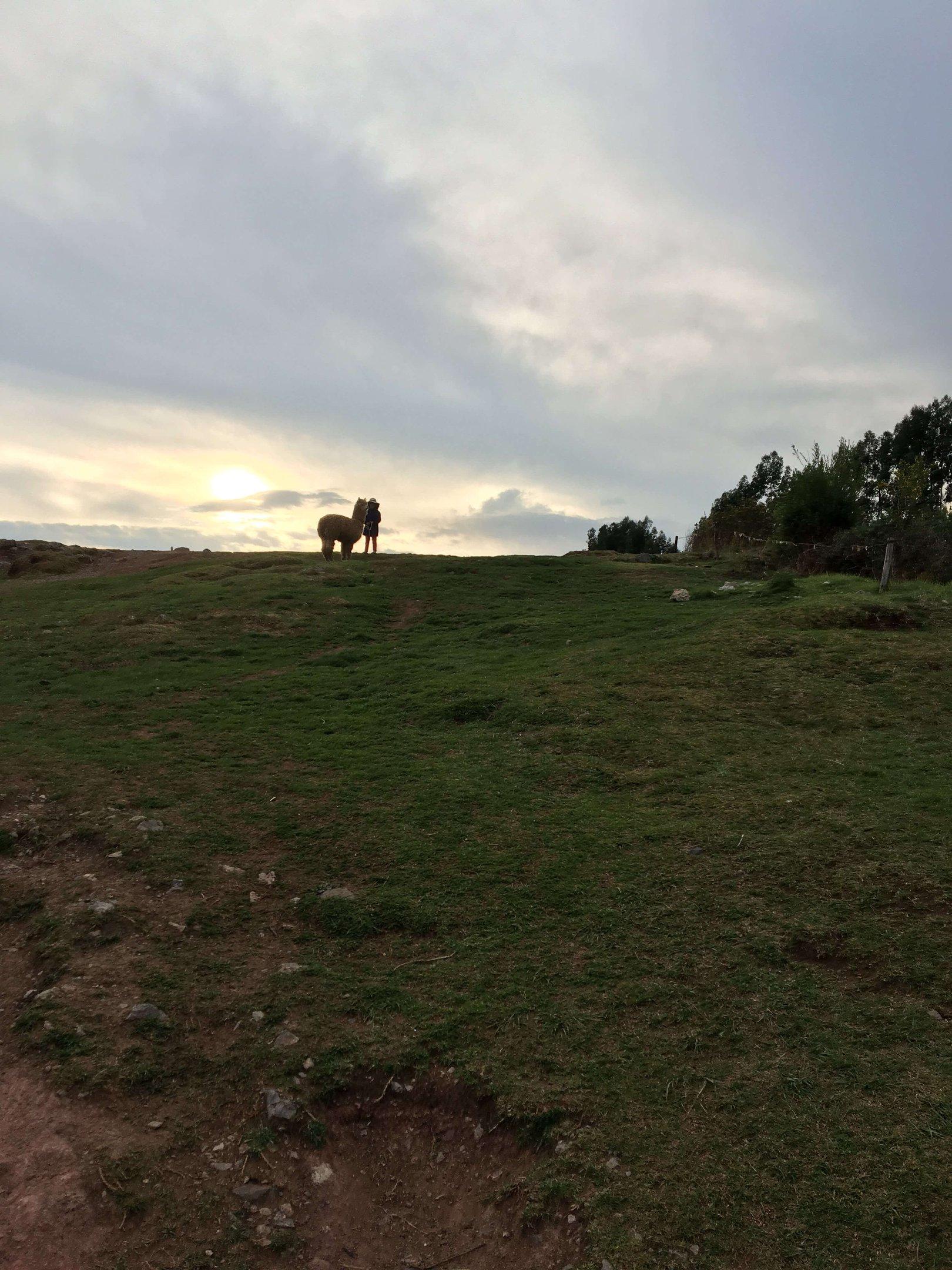 Fim de tarde em uma das paisagens peruanas