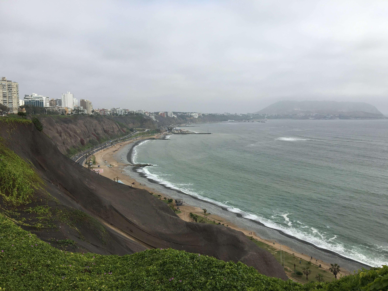 Vista do Oceano Pacífico em Lima